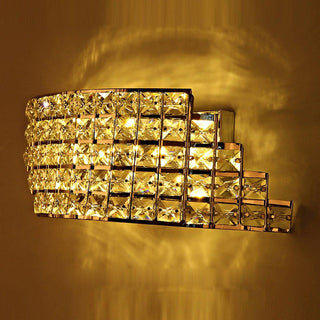 Modern Stair Shape Arc Crystal Corridor Wall Light - Deals Blast
