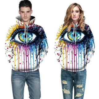 3D Print Paint Eyes Sweatshirts Hoodies for Men Women