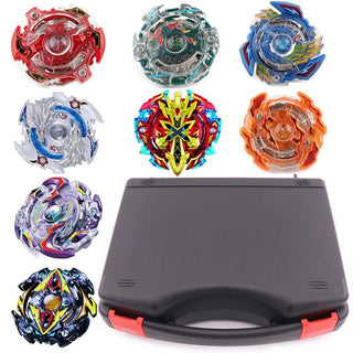 New Beyblade Set 8pcs Beyblades+3 Launchers+1 Handle+1 Plastic Box Spinning