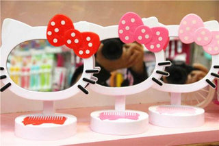 New Hello Kitty Girls Desk Table Bow Make-up Mirror: Deals Blast