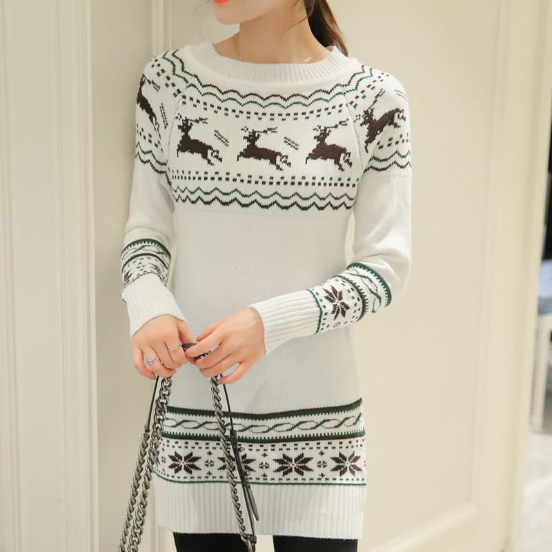 Long Women Sweaters And Pullovers Winter Christmas: Deals Blast