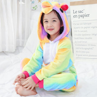 Rainbow Unicorn Children Pajamas Girls Boys Onesies Animal Pajamas Jumpsuit - Deals Blast