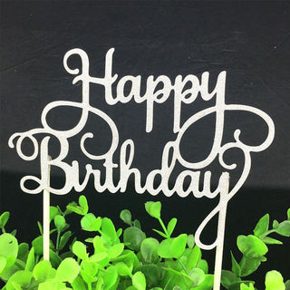 Shining Happy Birthday Party Supplies DIY Decoration Cake Topper: Deals Blast