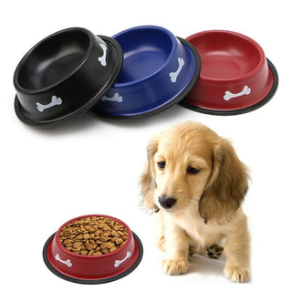 Anti-Slip Colorful Pet Cat Dog Food Bowl Feeder: Deals Blast