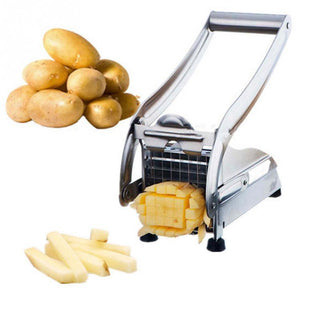 Stainless Steel Potato Chip tool French Fry Cutter Potato Cutter Kitchen Gadgets Cucumber Slice Cutting Machine