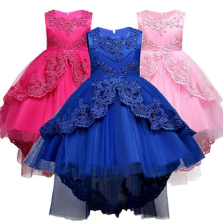 Summer Kids Formal Dress For Girls Clothes Flower Pageant Birthday Party Princess Dress Girl Clothes