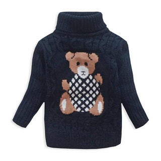 Children Baby Boys Sweater Turtleneck Sweater Tiny Cottons Girls Sweater Winter Children Clothing Kid Knitted Pullover
