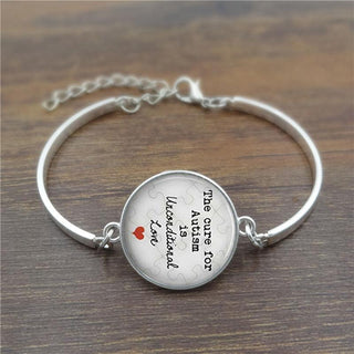 The cure for unconditional Love Glass  High Quality Bracelet Phrase: Deals Blast