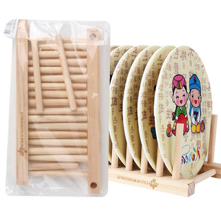 Bamboo Solid Storage Holder CD Rack For Dishes: Deals Blast