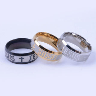 Stainless Steel Finger Ring For man  Woman Jesus Rings Fashion Religious Jewelry