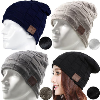 Wireless Bluetooth Beanie Hat Earphone Soft Warm  With Headset Stereo Speaker Handsfree Headphone for Men Women Boy Girl