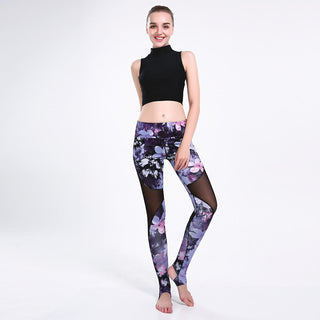 Women Mesh Leggin Breathable Fitness Sporting Pants Plus Size Trousers