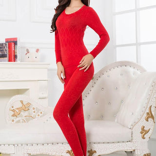 Women Warm Thermal Underwear Woman Long Johns Long Sleeve Thermal Clothing Underwears Sets