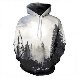 3D Printed Trees Hoodies and Sweatshirts for Men Women: Deals Blast