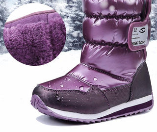 Mid Calf Warm Snow Boots For Girls