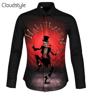 Halloween Turn Down Collar 3d Men Shirt