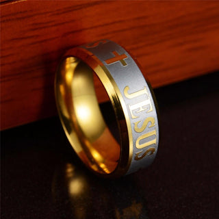 Gold Stainless steel Rings for women men female friends fashion jewelry with Full Size: Deals Blast