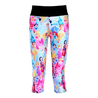 Deals Blast: Women's Calf-length pants women leggings Beautiful Princess animation cartoon digital print women pants with side pocket: Deals Blast