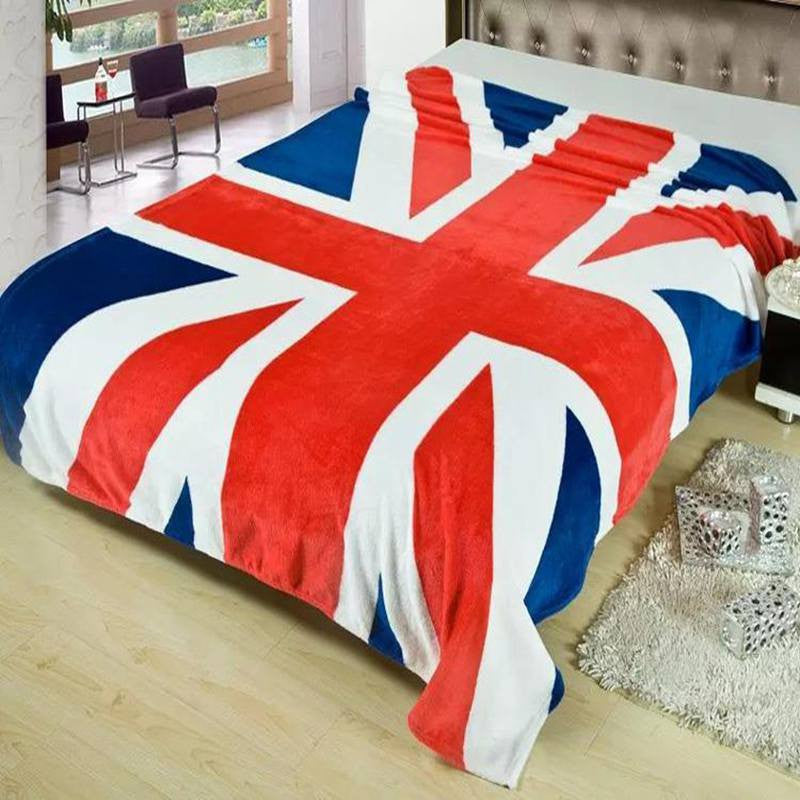 2016 Fleece Blanket Union Jack United State Flag Flannel Blankets Throw On Bed Travel Sofa Bed Blanket 150*200cm Home Textile: Deals Blast