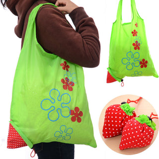 Deals Blast: 1 Piece Eco Storage Handbag Strawberry Foldable Shopping Tote Reusable Bags Random Color Deals Blast