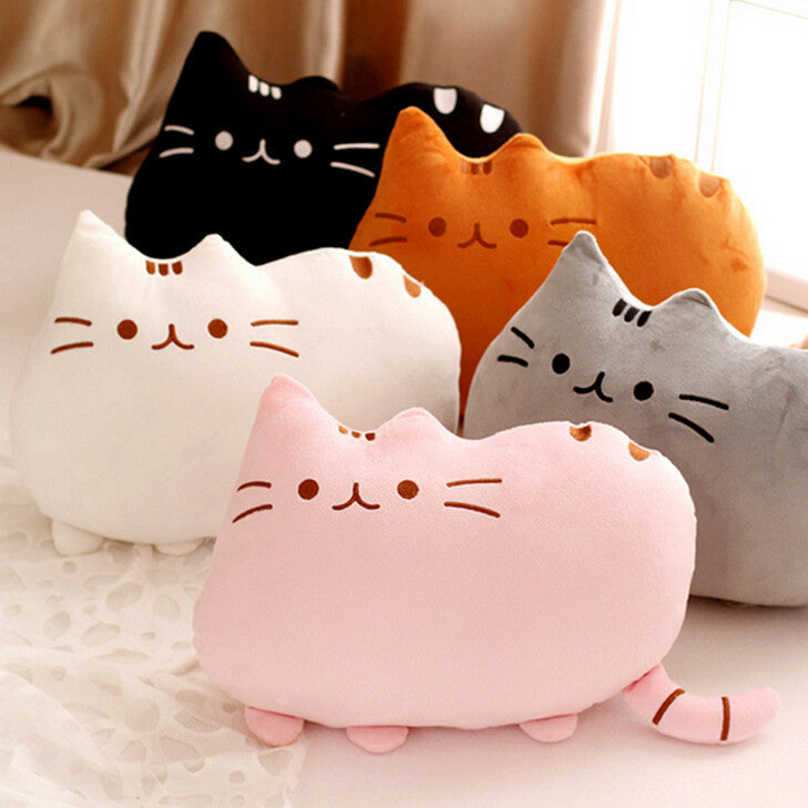 1pc 40*30cm New Cat Pusheen Pillow with Zipper Only Skin Biscuits Kids Toys Kawaii Kids Toys Cute Plush Cushion Brinquedos - Deals Blast