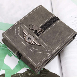 Deals Blast: 3 Fold Men's Wallet Retro Manmade Canvas Wallet Men Multi-Card Wallets Purse Deals Blast
