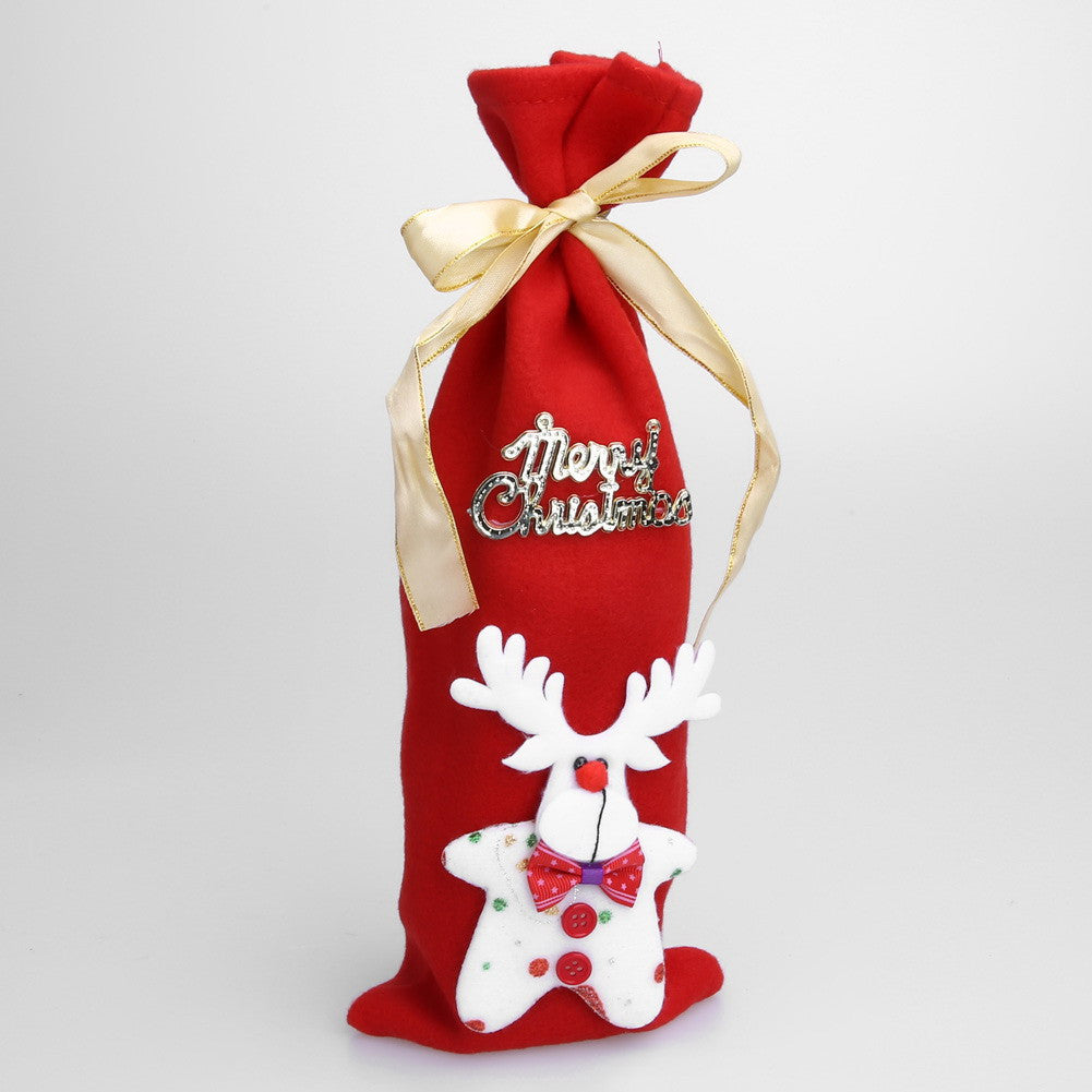 Deals Blast:Christmas Wine Bottle Decor Set Santa Claus Snowman Deer Bottle Cover Clothes Kitchen Decoration for New Year Xmas Dinner Party Deals Blast