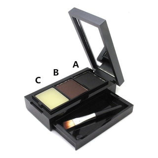 2016 Brand New Professional Eye Shadow Makeup Palette3 Colour Eyebrow Powder + Eyebrow Wax + Brush Make Up Sit Set for Women - Deals Blast