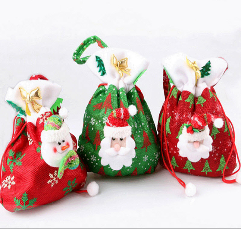 93d5eee63490 ... Christmas Tree Wedding Home Decoration Supplies. Deals Blast  Creative  Santa Claus Snowman 3 kinds of styles Candy Gift Bags For Party