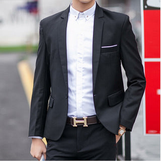 Hot!Free Shipping 2016 New Year Special a buckle multicolor classic casual men's suits blazer men men blazer M_XXXL Deals Blast