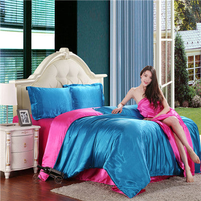 Cheap Luxury Bedding Sets Silk Quilt Duvet Cover Sets Full Queen King Size Bedding Sets Many Luxury Bedding Patterns. - Deals Blast