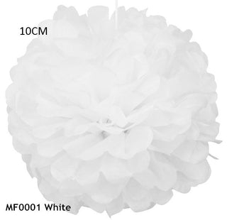 34 Colors 4inch (10cm) Small Size Tissue Paper Pom Pom Flower Rose Ball Hanging Wedding Party Decorations Deals Blast