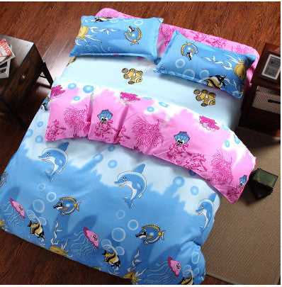 Promotion Reactive Printing BEDDING 4pcs Bedding Set duvet cover set queen king size QUILT COVER SET Deals Blast