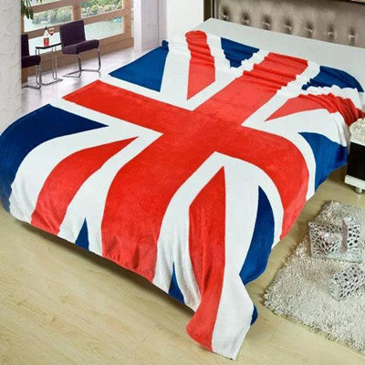 2016 Fleece Blanket Union Jack United State Flag Flannel Blankets Throw On Bed Travel Sofa Bed Blanket 150*200cm Home Textile Deals Blast