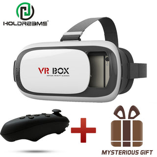 Deals Blast: VR BOX 2.0 II VR Glasses Google Cardboard with Headphone 3D Glasses Virtual Reality Video Game Helmet+Bluetooth Controller 5 - Deals Blast
