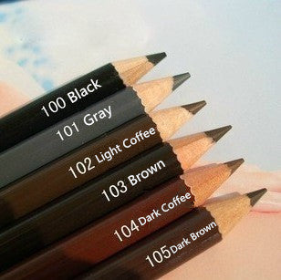 Brand New 6 Pcs=Colors Waterproof Eyebrow Pencil Pen Dark Brown Eyebrow Pencil Eye Brow Liner Makeup Long-lasting Deals Blast