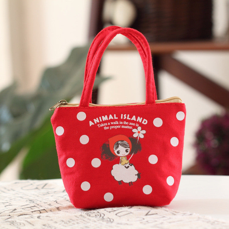 1 PC Cute Unisex Women Men Mini Sweet Doll Girl Canvas Coin Bag Wallet Pouch Card Purse Zip Key Holder Case - Deals Blast