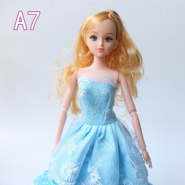 "12 Moveable Joint Body Princess Babe Doll 30cm 11"" Wedding Design Dress Suite Kids Toy Brinquedo Girl Gift Deals Blast"
