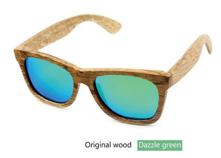 Deals Blast: The new 2016 package mail fashionable restore ancient ways natural environmental protection man bamboo wood polarized sunglasses Deals Blast