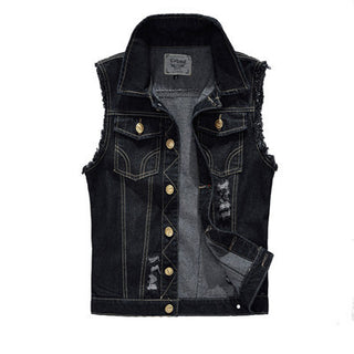 Denim Jackets Sleeveless Fashion Washed Jeans Waistcoat Mens Plus Size 4XL Deals Blast