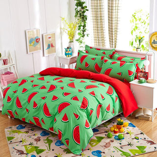 Hot Sale Reactive Printing bedding set soft comfortable bed set family set 3/4pcs. Queen full Twin size fast shipping Deals Blast