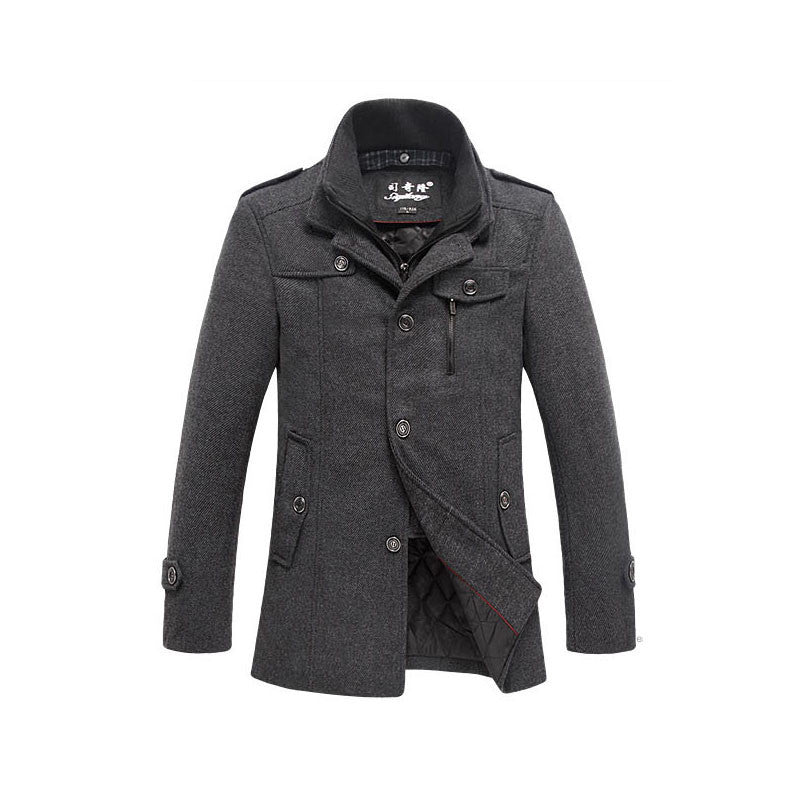 2015 high quality men's winter jacket coat jacket coat warm coat jacket windproof jacket stitching Slim (Newly added Add Cotton) - Deals Blast