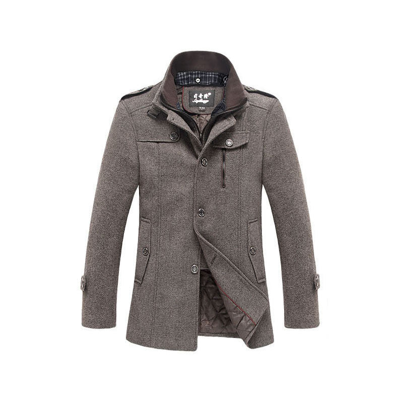 2015 high quality men's winter jacket coat jacket coat warm coat jacket windproof jacket stitching Slim (Newly added Add Cotton) Deals Blast