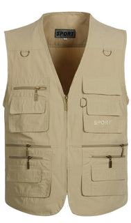 New Spring Summer Autumn Men Plus Size Vest With Many Pockets Men's Casual Waistcoat Deals Blast