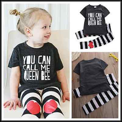 2016 Baby Girl Clothing Set labeled T-shirt Pant Baby Girls Clothes Set Girls Clothing Set - Deals Blast
