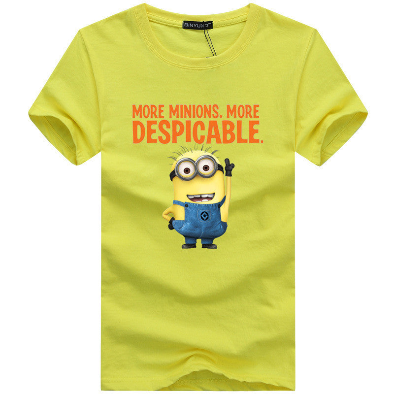 2016 Fashion brand Minions Print Short sleeve t shirt Mens Plus Size XXXL 4XL 5XL t-shirt men Cartoon lovers camiseta masculina Deals Blast