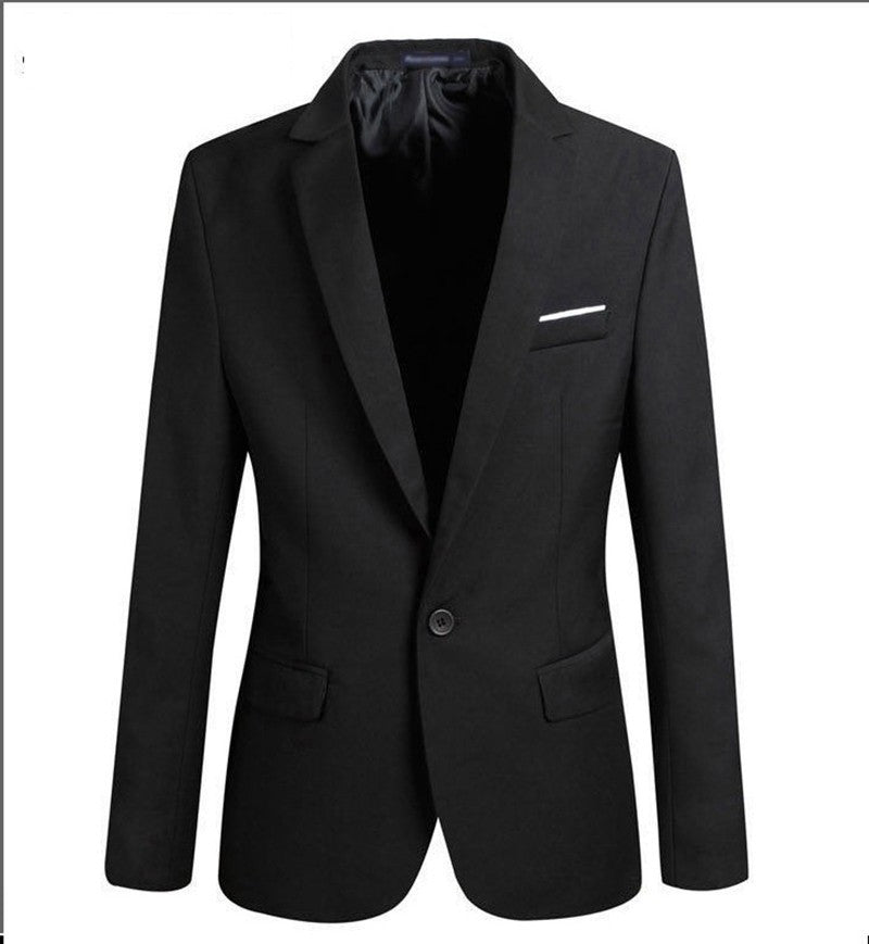 2016 New Suit Jacket For Men Terno Masculino Suit Blazers Jackets Traje Hombre Men's Casual Blazer 2 Colors Size S-XXL Deals Blast