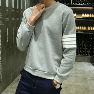 2016 Fashion New Men Clothing Autumn Pullovers Striped Hoodies Full Sleeves Casual Hip Hop Mens Sweatshirts Free Shipping Deals Blast
