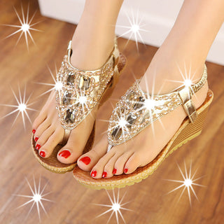 Women shoes zapatos mujer women sandals 2017 hot fashion beading wedges shoes for women ladies shoes