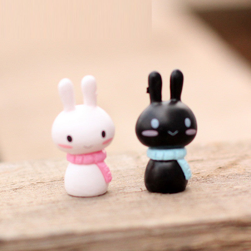 10Pcs/ Lot Color random A Pair Of Rabbits Model A Birthday Present Height 4.5 CM Mini Toy DIY Figurines for Decor Children Toys - Deals Blast